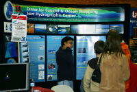 GEBCO Student Francis Freire mans the CCOM exhibit booth at the Pinkerton Academy Tech Fair in 2009.