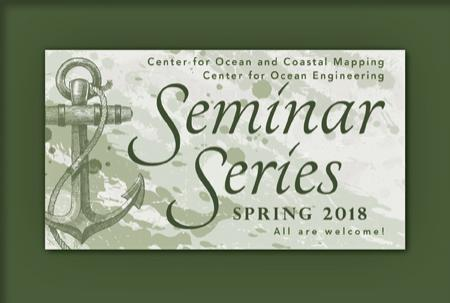 "Green colored sketch of an anchor with ""Seminar Series, Spring 2018, All are Welcome."""